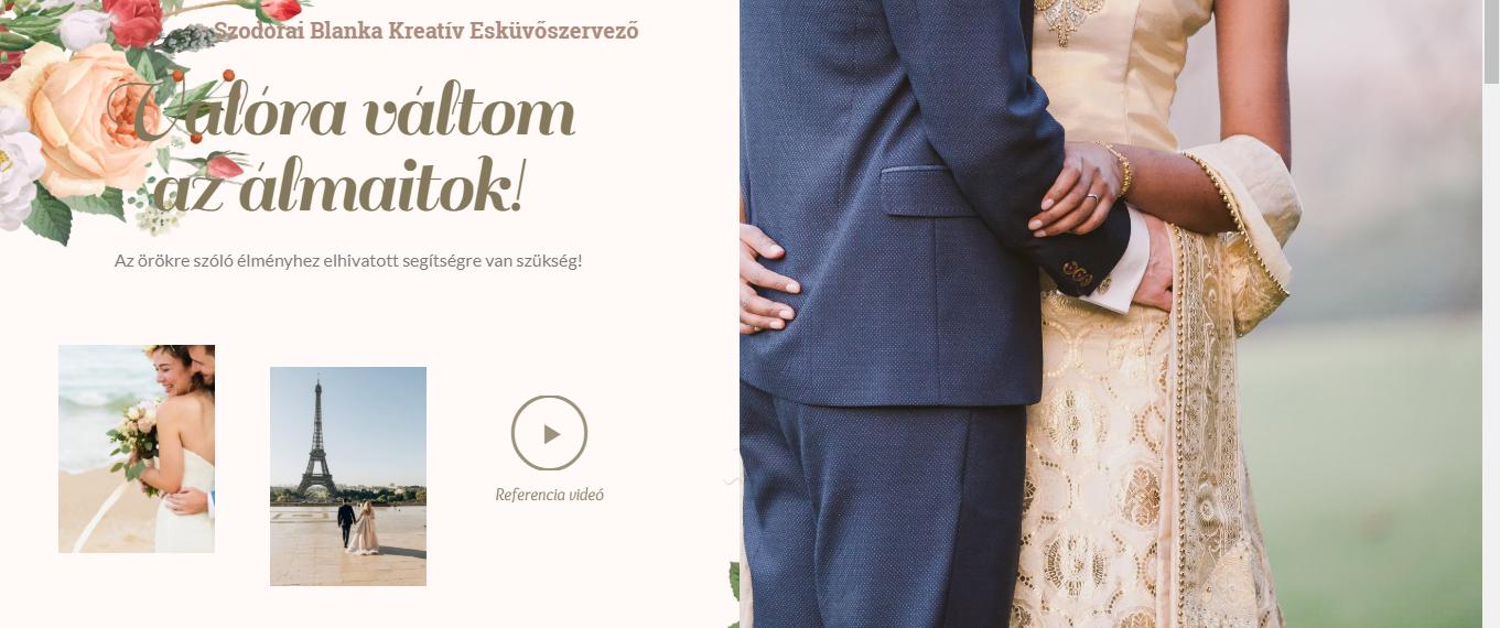 Szodorai Blanka esküvőszervezés